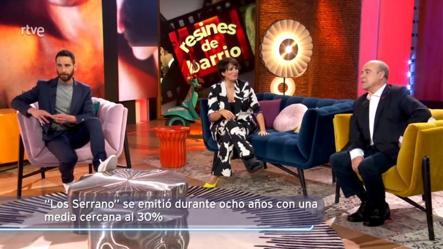'La noche D' en TVE, hablando de 'Los Serrano'