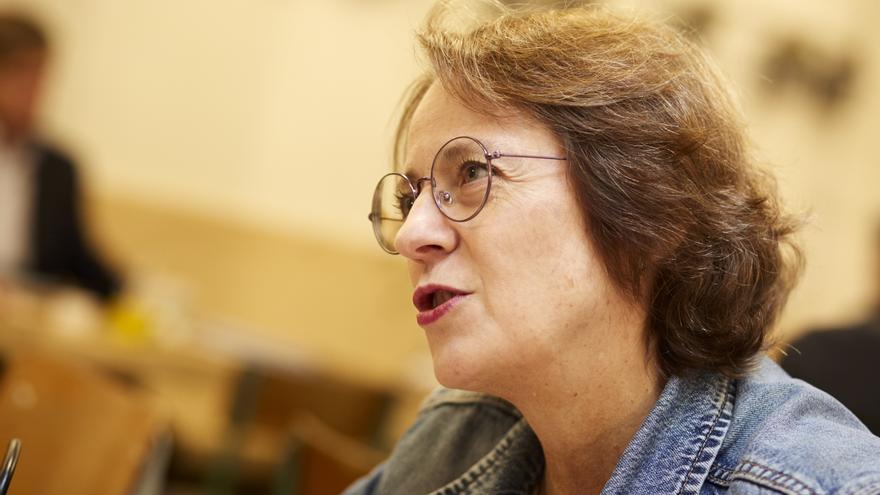 La escritora, durante la entrevista con eldiario.es