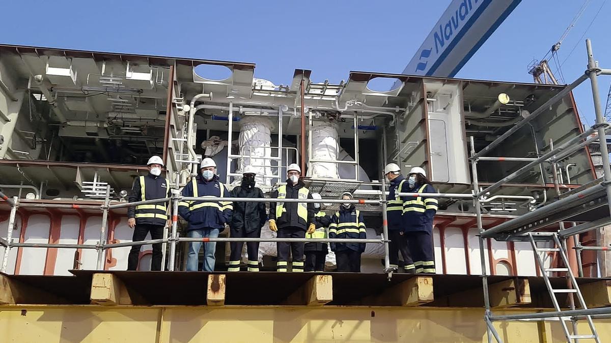 Protesta realizada por el comité de empresa de astilleros de Puerto Real