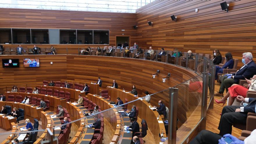 El pleno de las Cortes de Castilla y León, en la sesión del 12 de mayo.