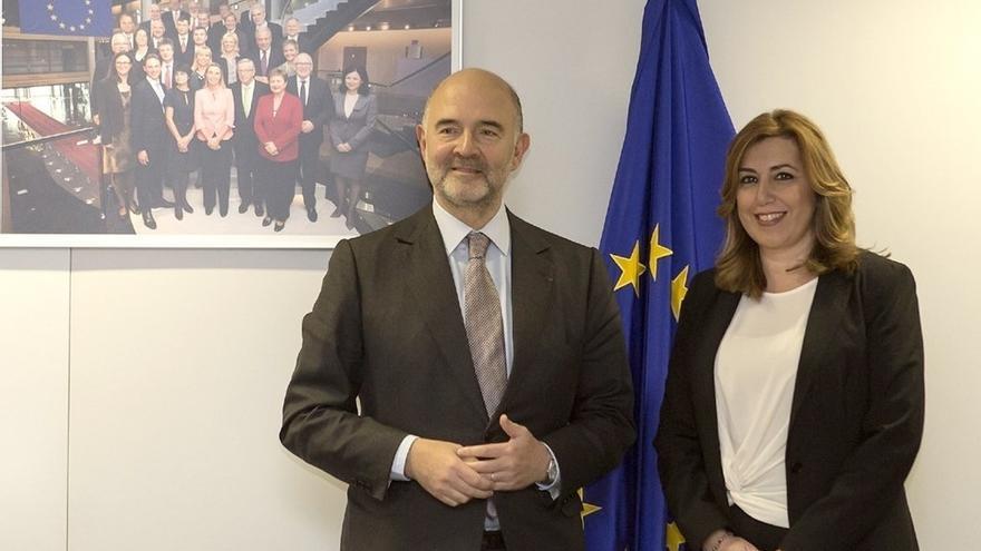Susana Díaz se reúne este viernes en Sevilla con el comisario europeo de Asuntos Económicos, Pierre Moscovici