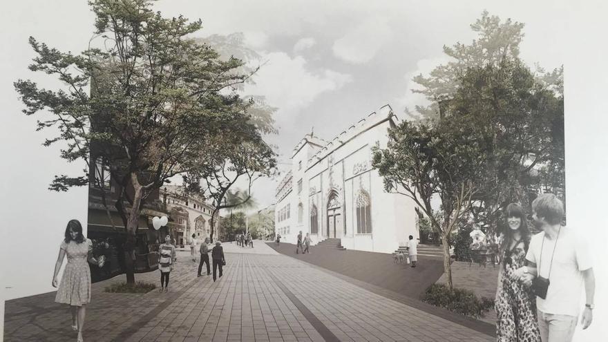 Así propone el entorno de la Lonja uno de los proyectos finalistas