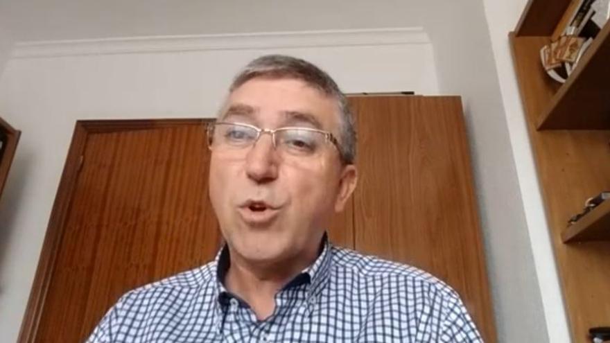 El conseller de Economía Sostenible, durante la entrevista por videoconferencia con eldiario.es.