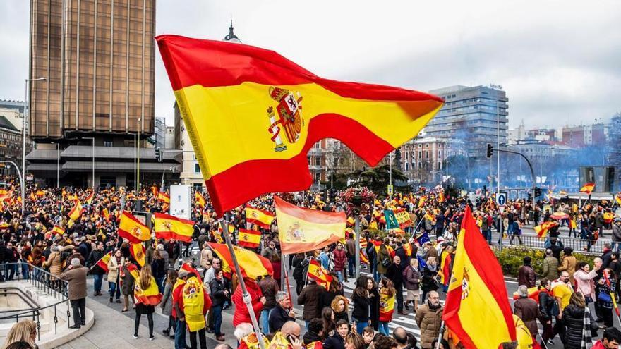 Imagen de la concentración del pasado domingo, en la Plaza de Colón de Madrid.