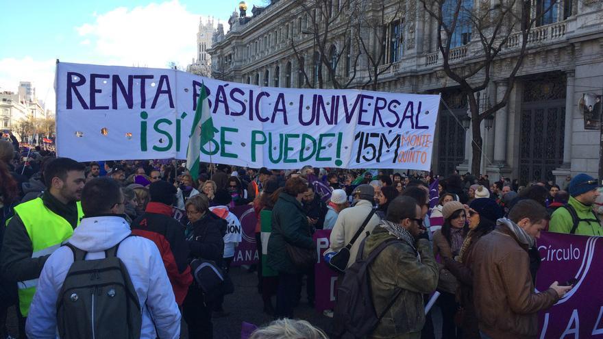 """Pancarta en la """"Marcha del Cambio"""". \ Mario Pais"""