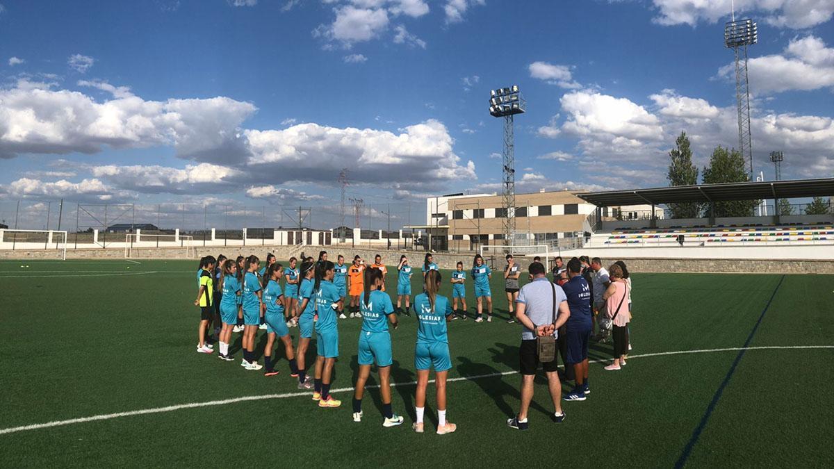 Primer entrenamiento del Pozoalbense Femenino en la 2021-22.