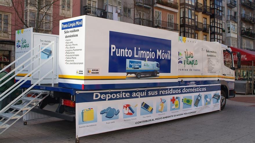 Los puntos limpios móviles recogen más de 20.400 kilos de residuos en el primer trimestre