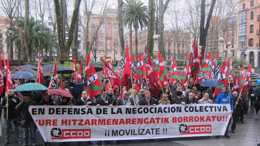 """CC.OO. Euskadi dice que los datos son """"un jarro de agua fría"""" sobre """"el optimismo por decreto"""" del Gobierno del PP"""