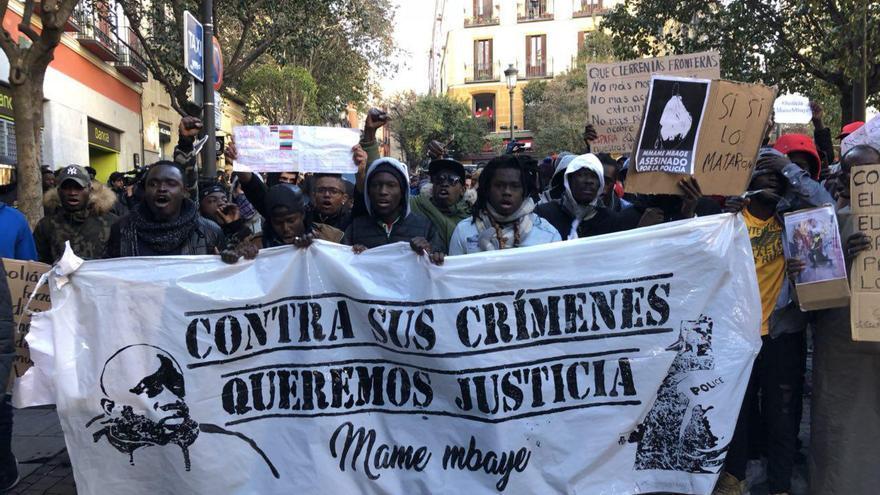 Cabecera de la manifestación en memoria de Mame. / David Noriega