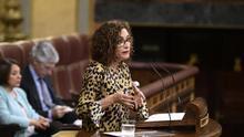 La ministra de Hacienda, María Jesús Montero, en el Congreso de los Diputados