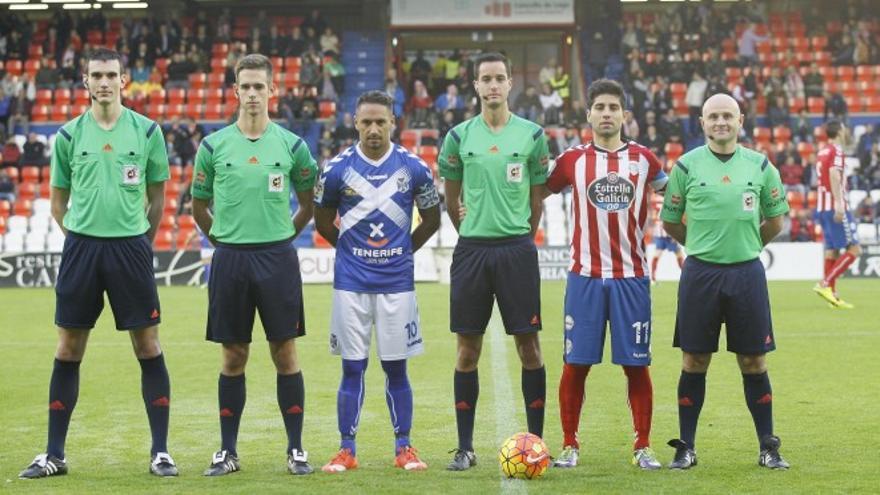 Imagen de un encuentro entre el CD Tenerife y el CD Lugo.