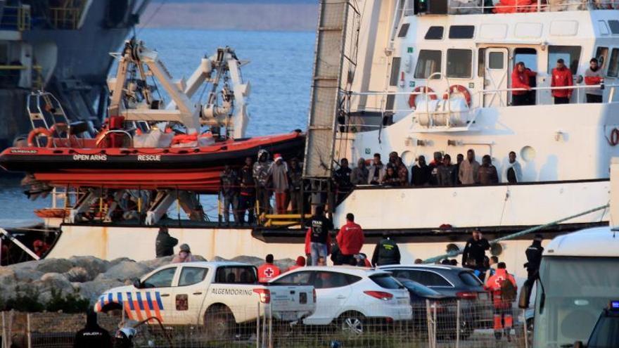 "El ""Open Arms"" zarpa desde Algeciras con destino a  Barcelona"
