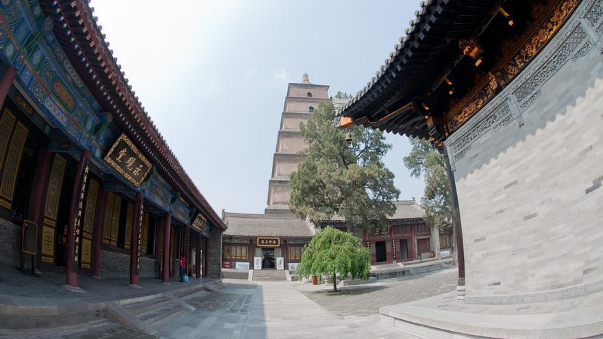 Pagoda del Gran Ganso Salvaje, en Xian. Mills Baker