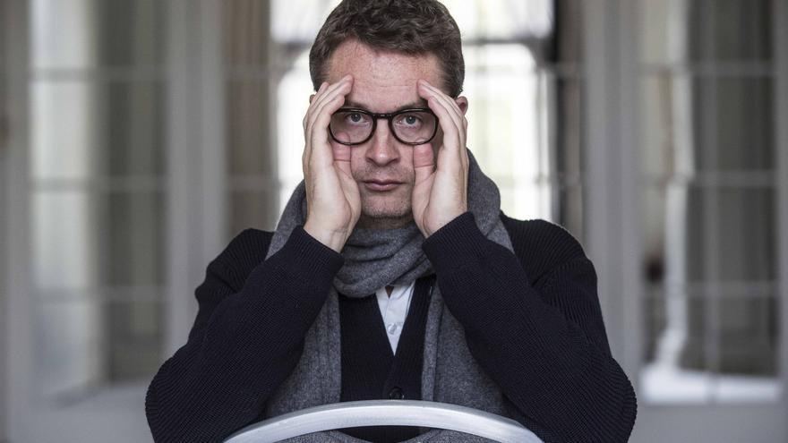 El director danés Nicolas Winding Refn, durante la promoción en Madrid de 'The Neon Demon'