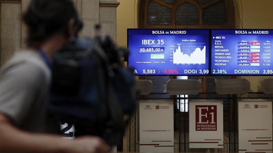 La Bolsa española avanza un 0,45 por ciento y busca volver a los 10.400 puntos