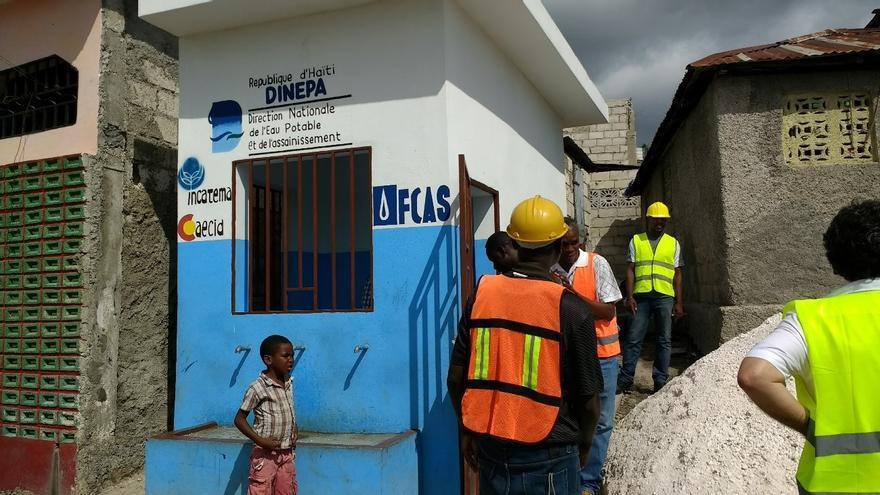 Las obras para la rehabilitación del abastecimiento a la ciudad de Aquin en Haití realizado por Incatema