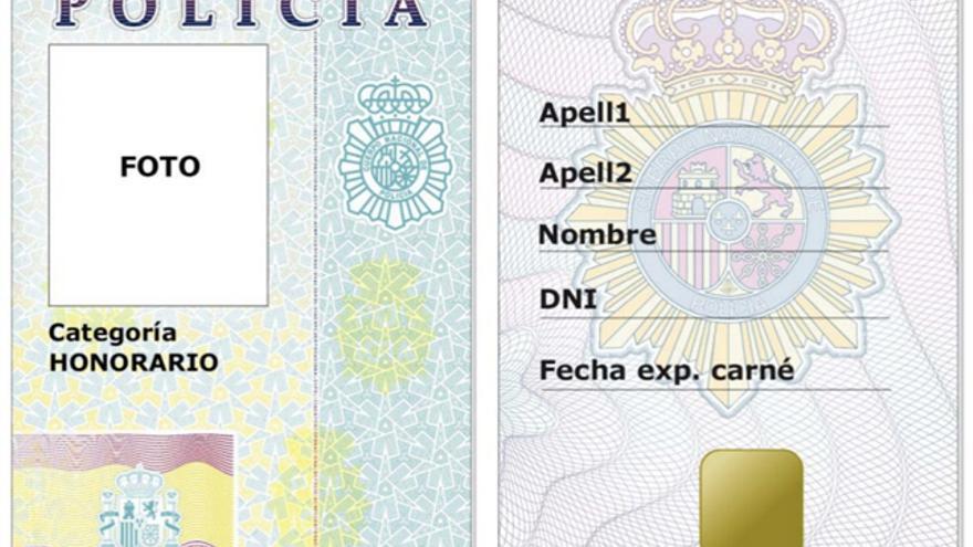 Carnet de policía honorario en el proyecto de Real Decreto