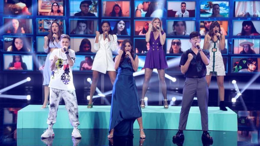 Nia, Hugo, Eva, Anaju y Flavio, finalistas de OT 2020