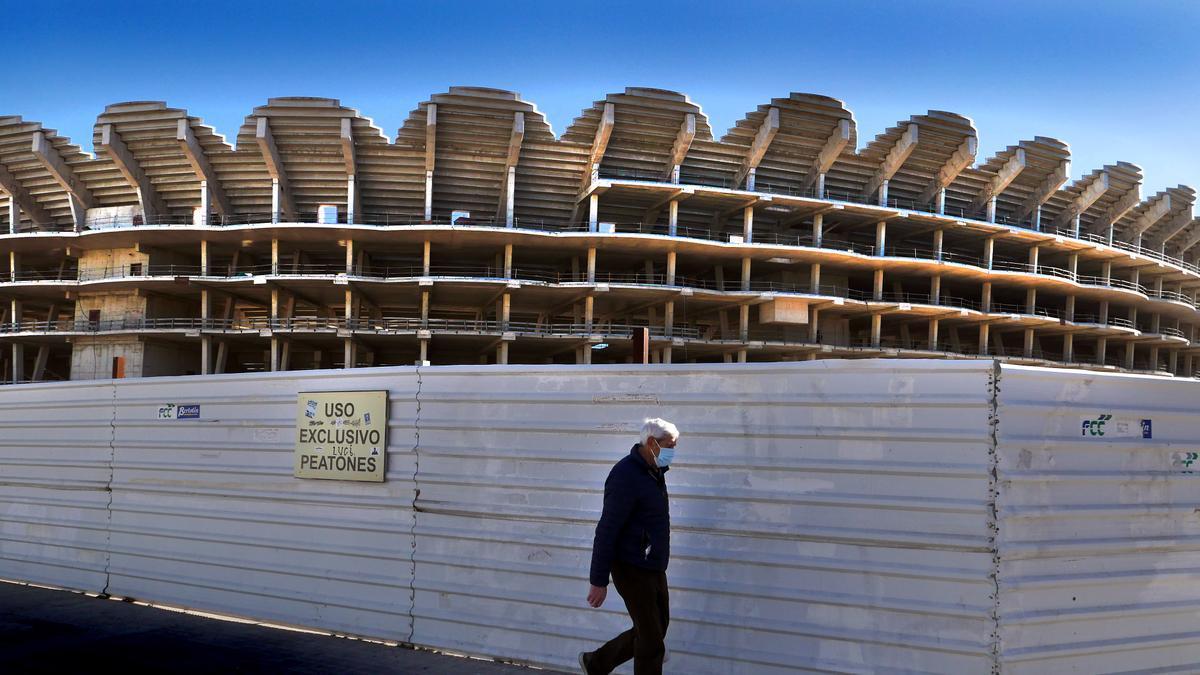 Vista del nou Mestalla.