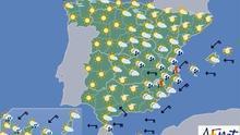 Fuertes chubascos y tormentas hoy en el centro y en Levante