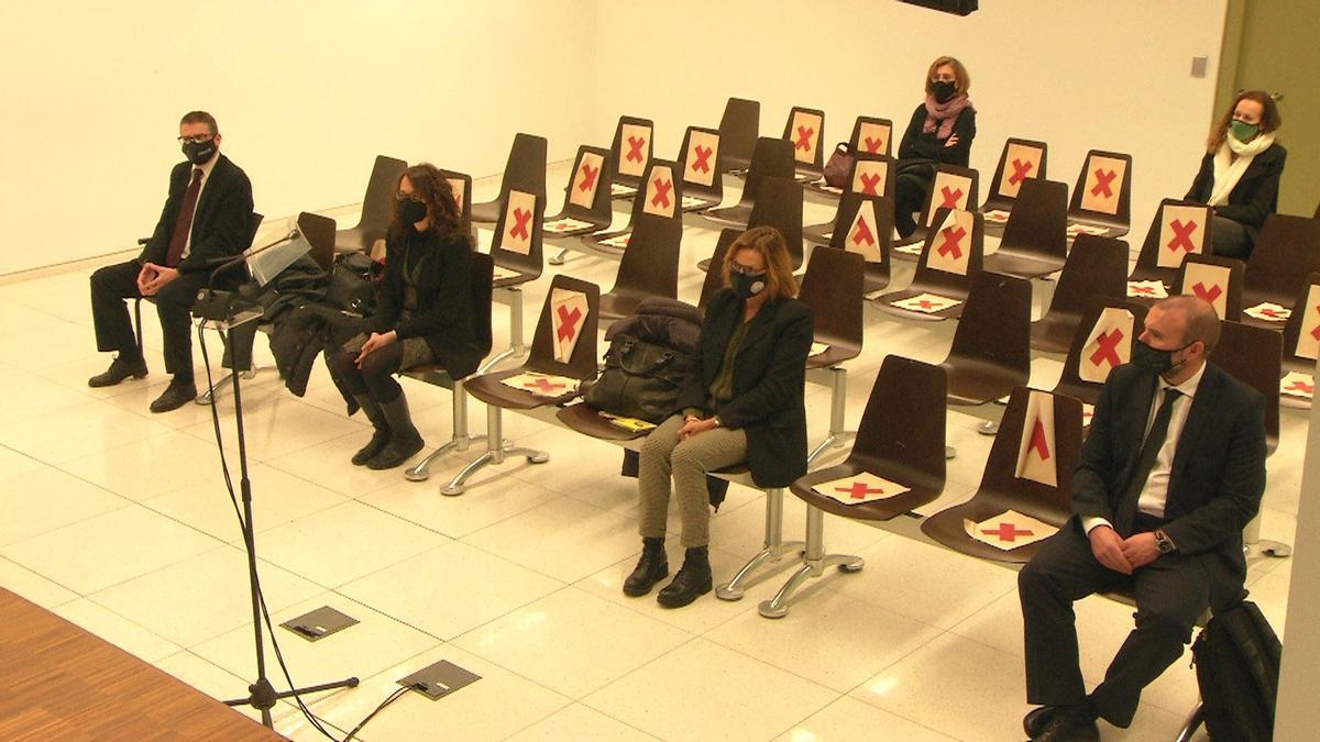Los acusados durante el juicio de la Sindicatura Electoral