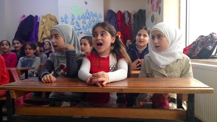Niñas sirias refugiadas en Turquía / Foto: Olga Rodríguez