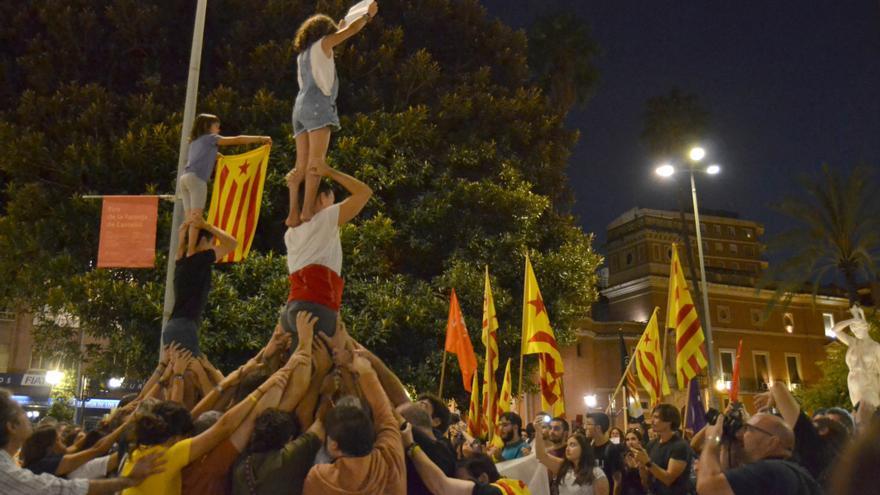 Un momento de la concentración celebrada en Castellón