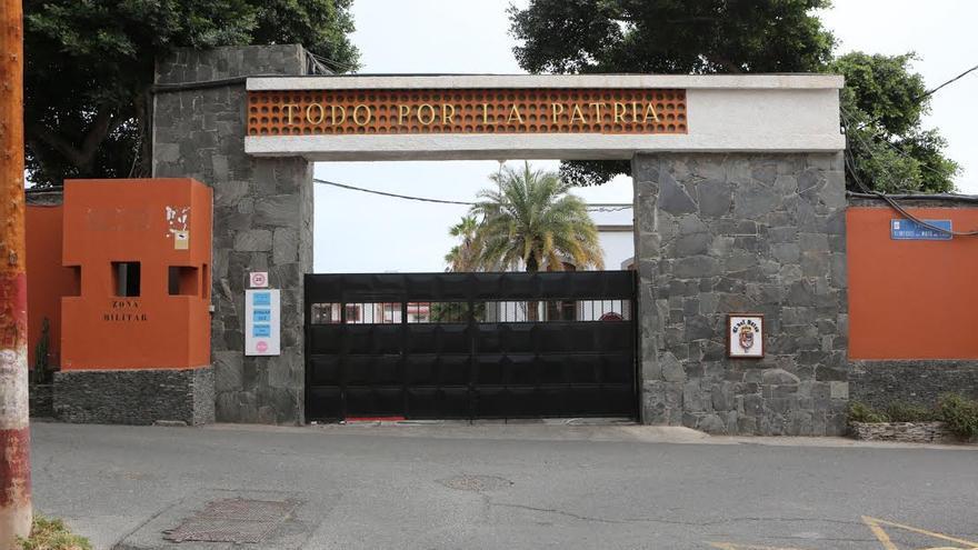 Acuartelamiento General Alemán Ramírez, base del Regimiento de Infantería Canarias 50. (ALEJANDRO RAMOS)