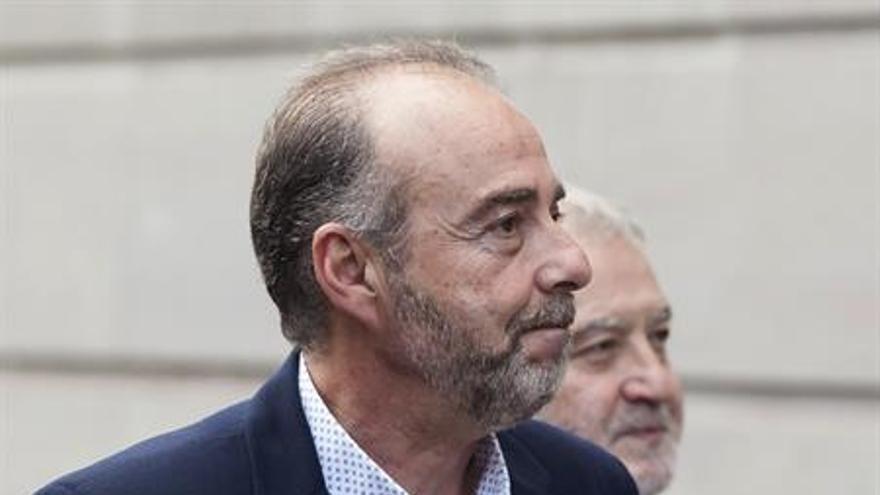 Miguel Zerolo, a su llegada a los tribunales