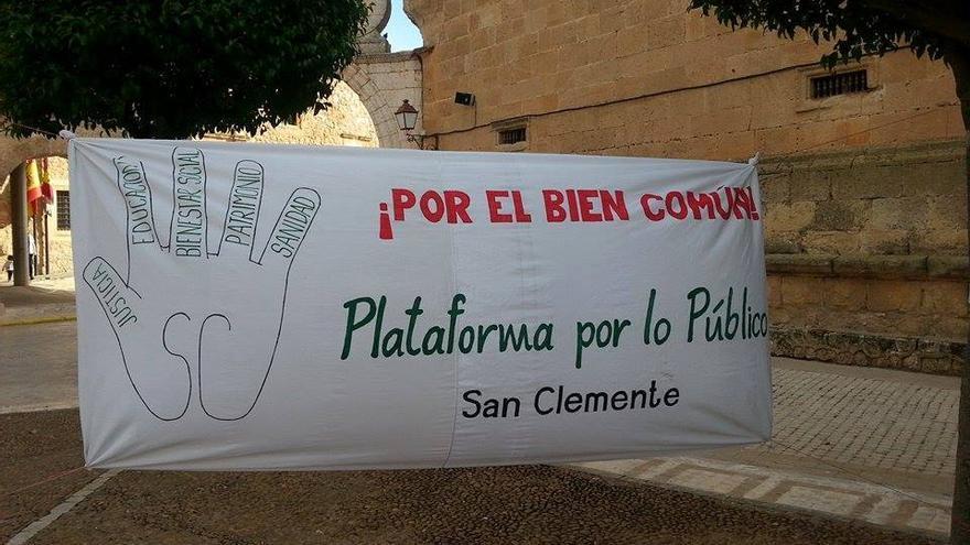 Plataforma en defensa de lo público en San Clemente. Foto de la Plataforma