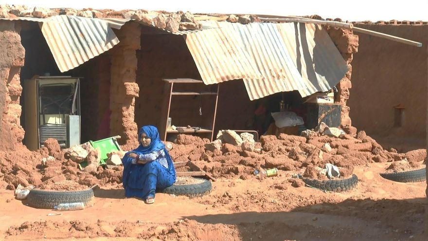 Viviendas destrozadas en los campamentos de refugiados saharauis como consecuencia de las fuertes lluvias / Médicos del Mundo