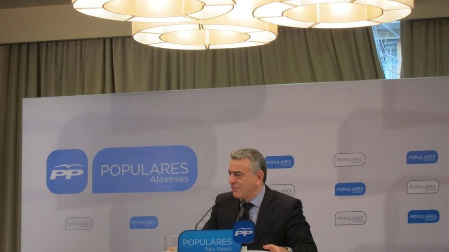 """PP vasco reconoce que en el partido existe """"inquietud"""" por los casos de corrupción"""