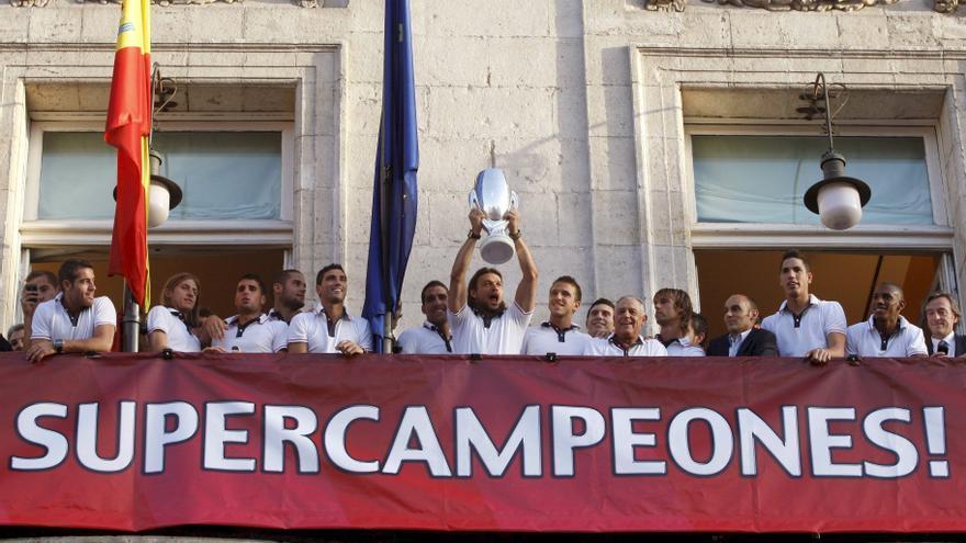 El Atlético de Madrid celebraría su segunda Supercopa la próxima semana