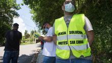 Trabajadores de Alcoa en San Cibrao levantan barricadas para protestar contra los despidos masivos en la planta