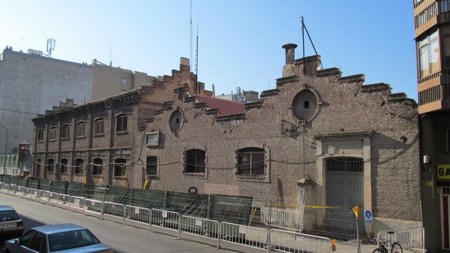 Talleres de Metro en la calle Valderribas, antes de ser derribados