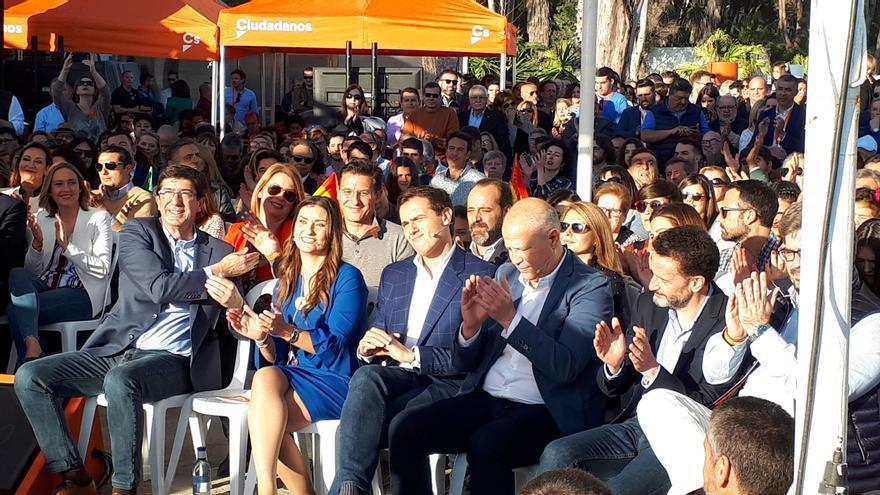 De izquierda a derecha, Marín, Giménez, Rivera, Imbroda y Bal, en Málaga   N.C.