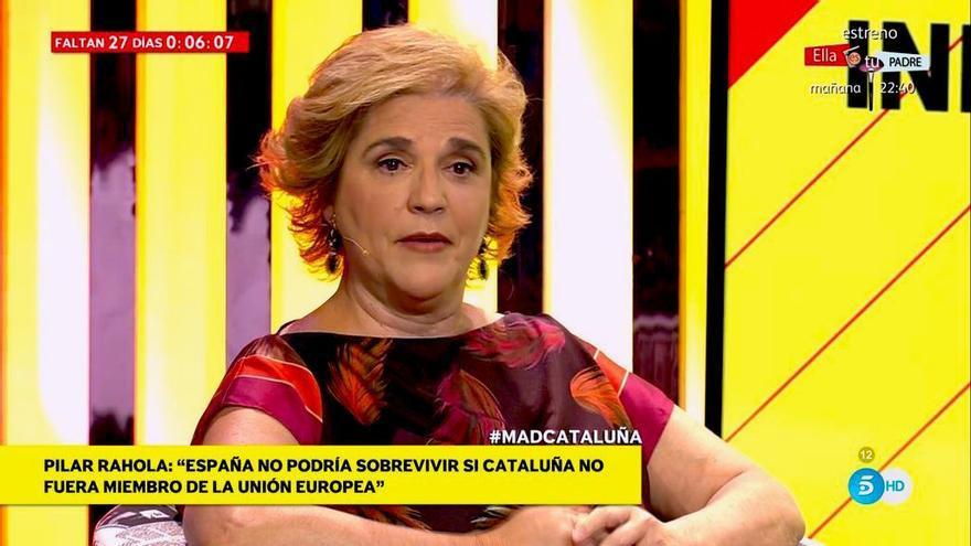 """La bravuconada de Pilar Rahola en Telecinco: """"España bla bla"""