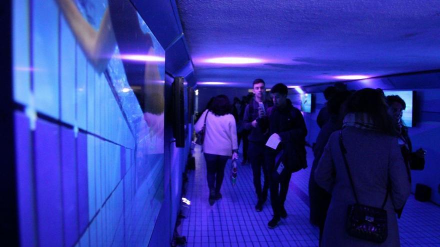 El primer túnel del 'Callejero libre de violencias machistas', en Retiro