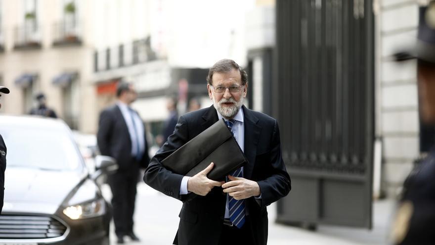 Mariano Rajoy, entrando al Congreso de los Diputados