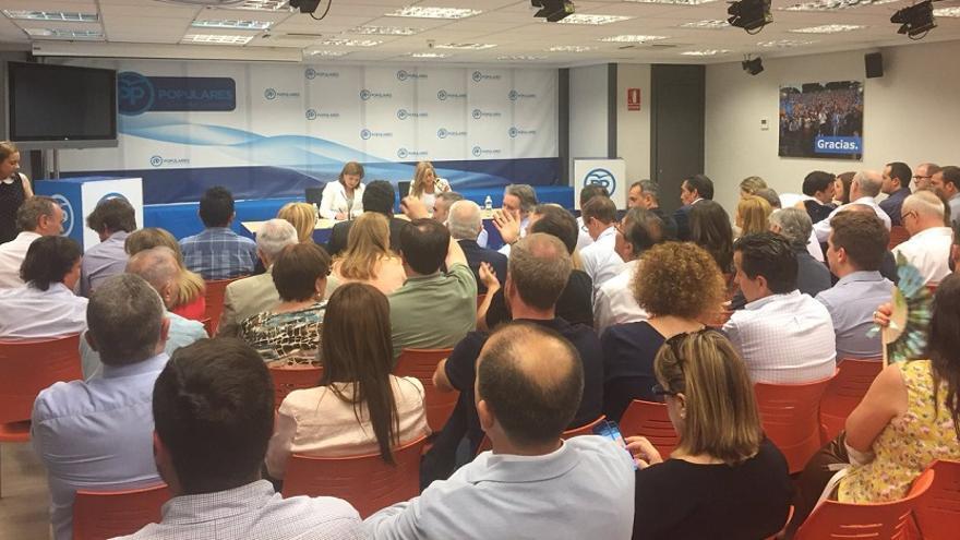 Imagen de la Junta Directiva Regional del PP celebrada este jueves
