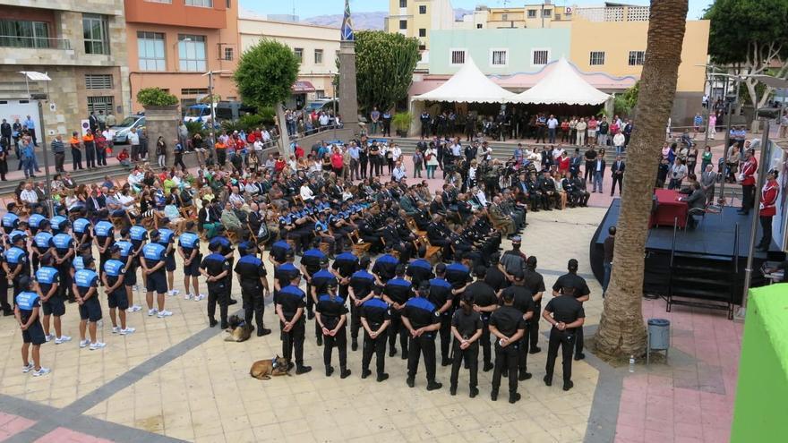 Imagen de archivo de un acto de las Policías Locales de Canarias.