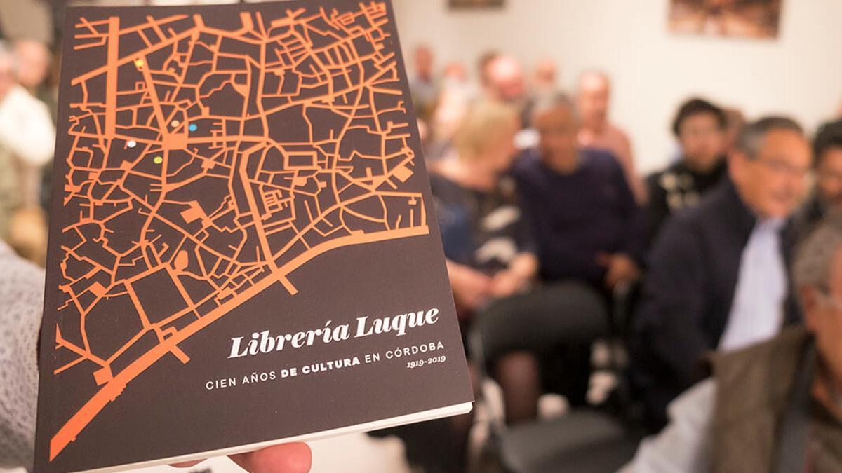Presentación del libro sobre el centenario de la Librería Luque