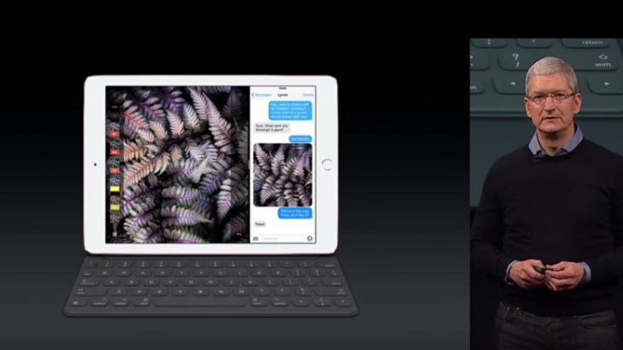Tim Cook durante la conferencia WWDC de Apple