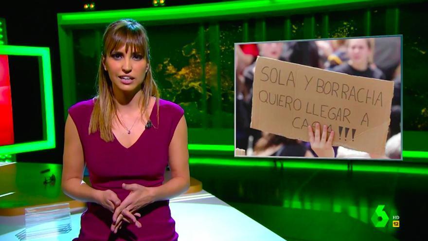 """Sandra Sabatés, a Vox, PP y Ciudadanos: """"Sola o acompañada, sobria o borracha, quiero llegar a casa"""""""