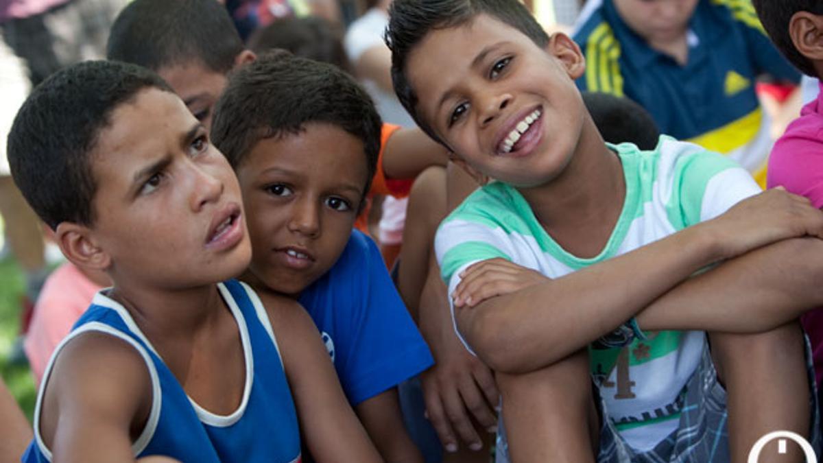 Niños saharauis a su llegada a Córdoba