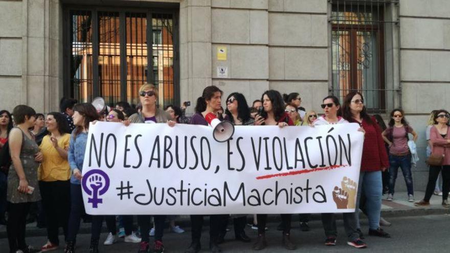 Manifestación a raíz de la sentencia contra La Manada.