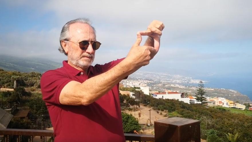 El cineasta Teodoro Ríos, en el parque El Montillo de La Matanza de Acentejo