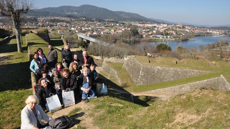 Acto de Ponte nas Ondas en la fortaleza de Valença do Minho, frente a Tui