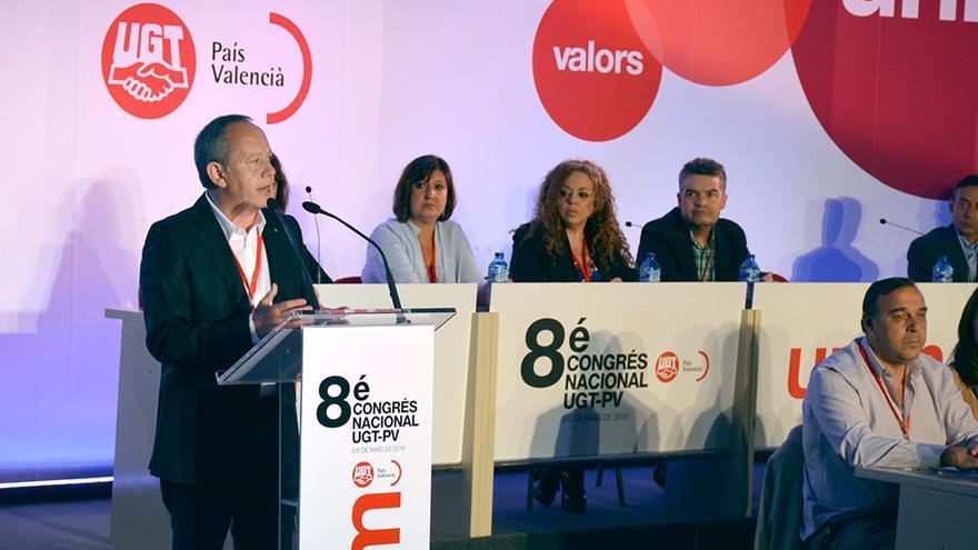 Ismael Sáez, nuevo secretario general de UGT-PV, interviene en el VIII congreso del sindicato