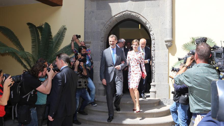 Visita de los Reyes a la Casa de Colón, en Gran Canaria.